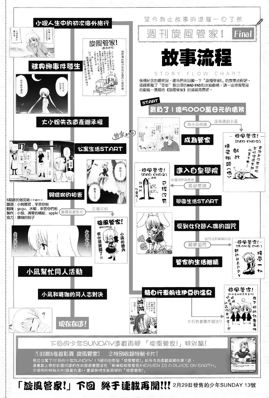 Weekly hayate no gotoku final story flow chart hayate report introduction nvjuhfo Choice Image
